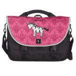 Damasco conocido personalizado del rosa de la cebr bolsas de portatil