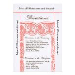 damasco coralino de Orán de la tarjeta de las dire Invitacion Personal