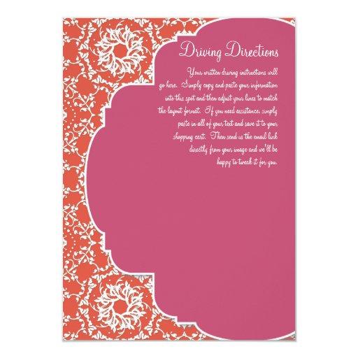 """Damasco de AnnaLiese - la sandía de la mandarina n Invitación 4.5"""" X 6.25"""""""