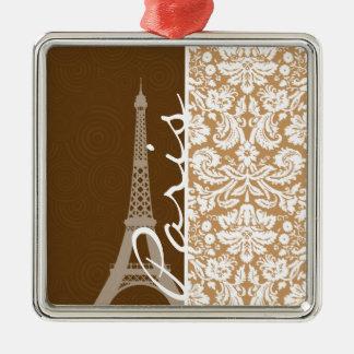 Damasco de Brown; París Ornamente De Reyes