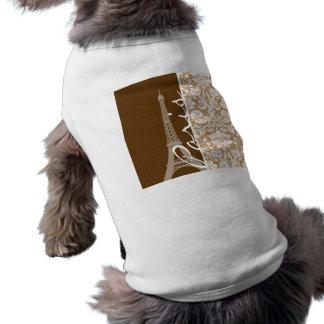 Damasco de Brown; París Camisetas De Mascota