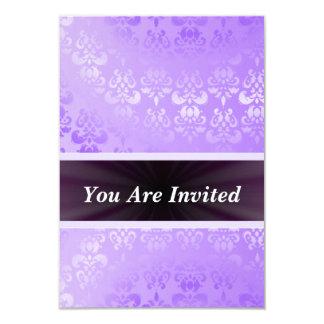 """Damasco de color de malva cualquier ocasión invitación 3.5"""" x 5"""""""