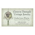 Damasco de Ginebra en pistacho Plantillas De Tarjetas Personales