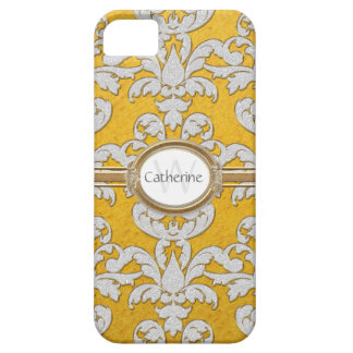 Damasco de la hoja floral de la chispa de Iphone 5 iPhone 5 Carcasa