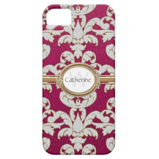 Damasco de la hoja floral de la chispa de Iphone 5 iPhone 5 Carcasas