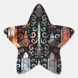 Damasco de la ingeniería espacial pegatina en forma de estrella