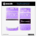 Damasco de la lila con la cinta calcomanías para BlackBerry