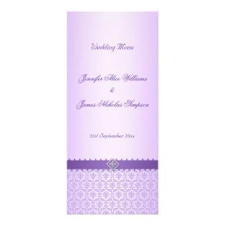 Damasco de la lila del vintage de la plantilla del tarjetas publicitarias