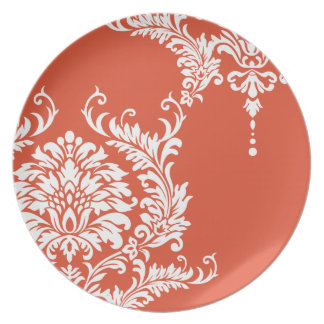 Damasco de la mandarina del vintage - color 2012 platos de comidas