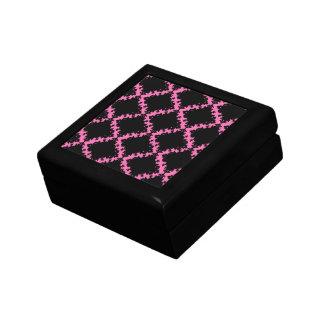 damasco de la MOD del diamante negro de las rosas  Caja De Joyas