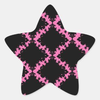 damasco de la MOD del diamante negro de las rosas Calcomanía Forma De Estrellae