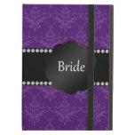 Damasco de la púrpura de los regalos de la novia