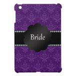 Damasco de la púrpura de los regalos de la novia iPad mini funda