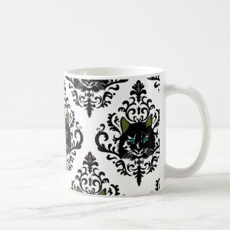 damasco de la siesta del gato taza de café