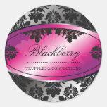 damasco de la trufa de 311-Sweet Blackberry Pegatinas Redondas