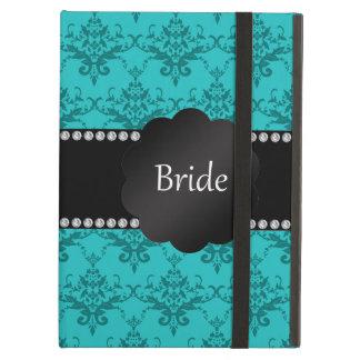 Damasco de la turquesa de los regalos de la novia