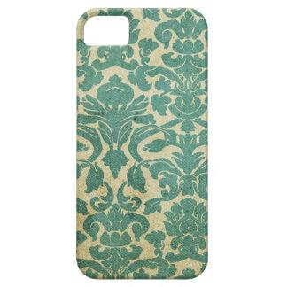 Damasco de la verde salvia del vintage iPhone 5 Case-Mate cobertura