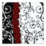 Damasco de la vid y boda del gótico de los rosas invitación 13,3 cm x 13,3cm