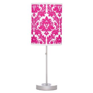 Damasco de las rosas fuertes lámpara de mesa