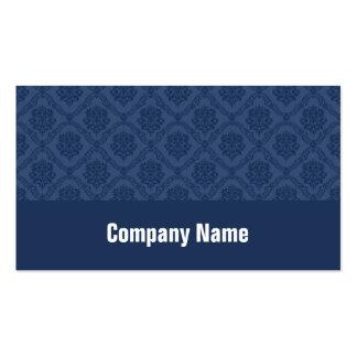 Damasco de los azules marinos plantillas de tarjetas personales