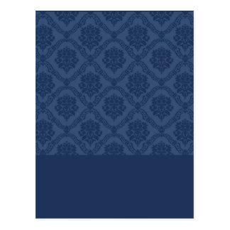 Damasco de los azules marinos postal