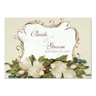 """Damasco de los remolinos de la magnolia del invitación 3.5"""" x 5"""""""