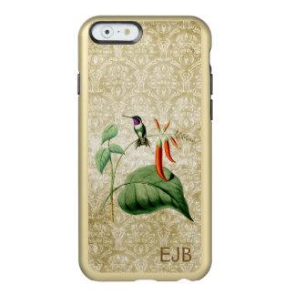 Damasco de madera del colibrí de la estrella funda para iPhone 6 plus incipio feather shine
