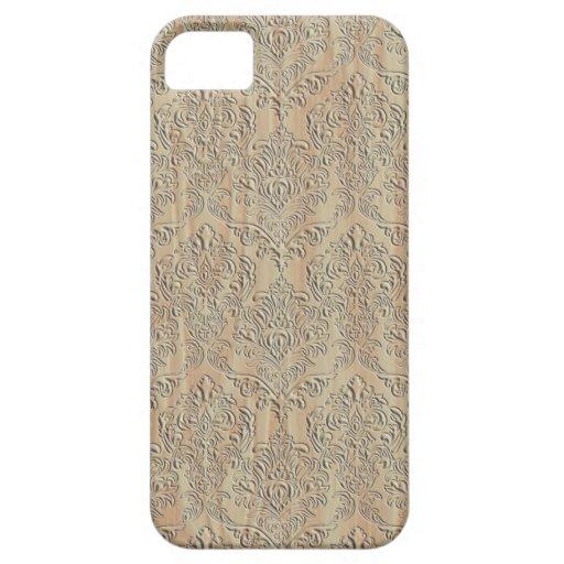 Damasco de madera iPhone 5 carcasas