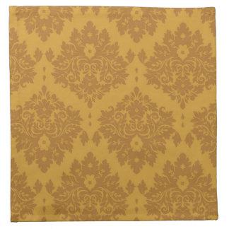 Damasco de oro de lujo servilletas de papel