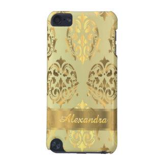 Damasco de oro persnalized elegante elegante funda para iPod touch 5
