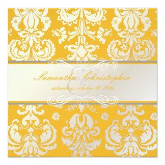 """Damasco de PixDezines Isabel, color de Invitación 5.25"""" X 5.25"""""""