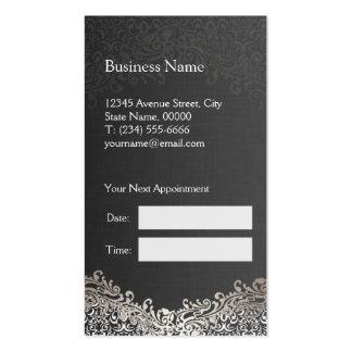 Damasco de plata elegante - cita del estilista plantillas de tarjetas de visita