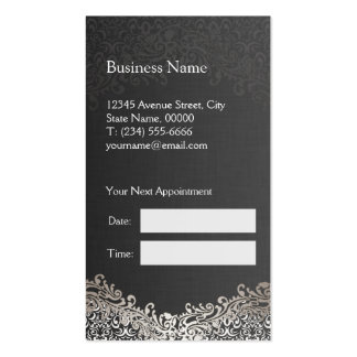 Damasco de plata elegante - cita del estilista tarjetas de visita