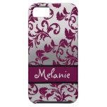 Damasco de plata y púrpura iPhone 5 Case-Mate cárcasa