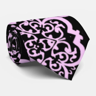 Damasco de Quatrefoil (rosa) Corbatas Personalizadas