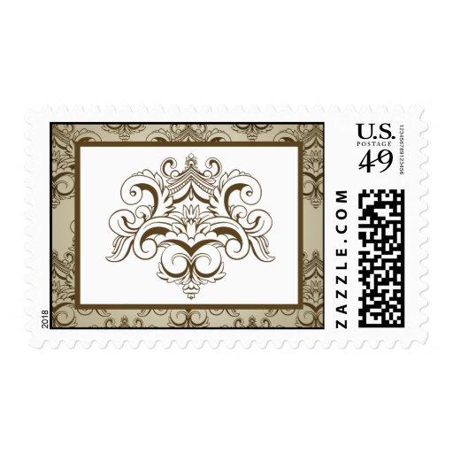 Damasco de Tanish Brown de 20 sellos