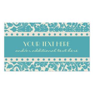 Damasco del azul del huevo del petirrojo tarjetas de visita