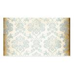 Damasco del azul del vintage tarjetas personales