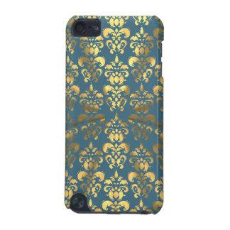 Damasco del color oro en gris/azul carcasa para iPod touch 5G