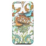 Damasco del diamante, pájaros de la primavera en n iPhone 5 Case-Mate carcasas