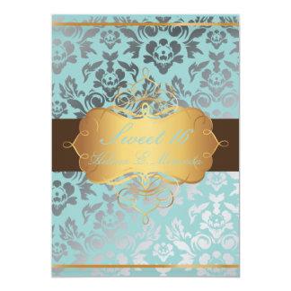 Damasco del dulce 16/de PixDezines/tiara/colores Invitación 12,7 X 17,8 Cm