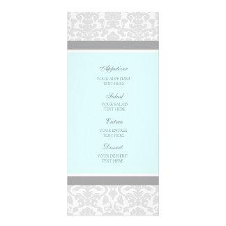 Damasco del gris azul del menú del boda lonas personalizadas