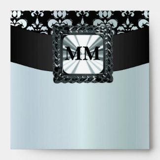 Damasco del gris negro y de plata sobres