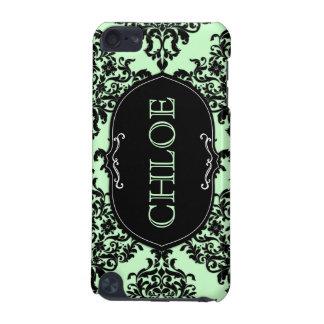 damasco del lux de la verde menta del tacto de 311 funda para iPod touch 5G
