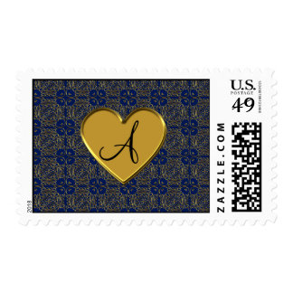 Damasco del marroquí del oro de los azules marinos sellos