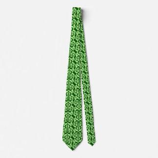 Damasco del Moorish de Ikat - pino y verde menta Corbatas Personalizadas