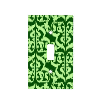 Damasco del Moorish de Ikat - pino y verde menta Tapa Para Interruptor