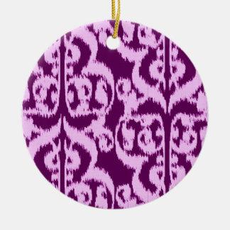 Damasco del Moorish de Ikat - púrpura y orquídea Ornamente De Reyes