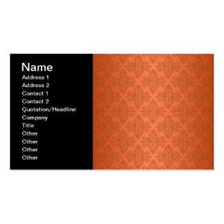 Damasco del naranja de la mandarina tarjetas de visita