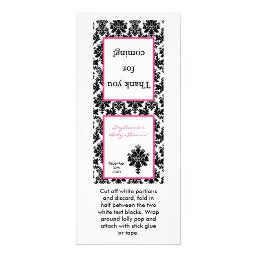 Damasco del negro de 25 del Lollipop rosas fuertes Lonas Publicitarias